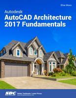 Autodesk AutoCAD Architecture 2017 Fundamentals PDF