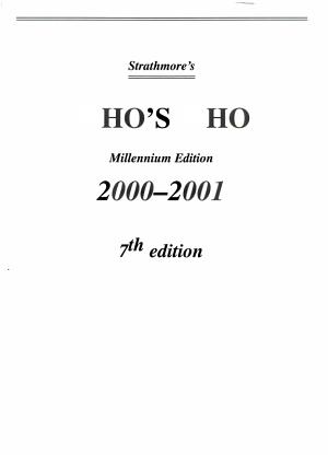 Strathmore s Who s Who  2000 2001 PDF