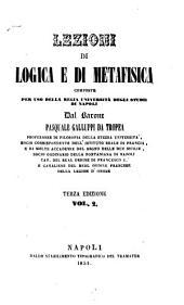Lezioni di logica e di metafisica: 2