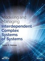 Modeling and Managing Interdependent Complex Systems of Systems PDF