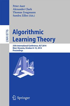 Algorithmic Learning Theory PDF