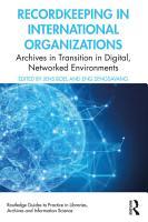 Recordkeeping in International Organizations PDF