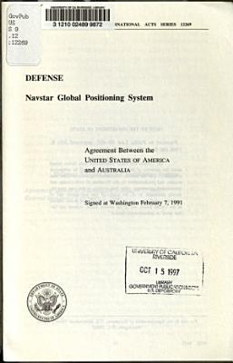 Defense  Navstar Global Positioning System
