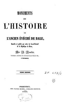 Monuments de l histoire de l ancien   v  ch   de B  le PDF