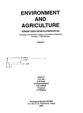 Environment and Agriculture  Biodiversity  agriculture  and pollution in South Asia PDF