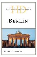 Historical Dictionary of Berlin PDF