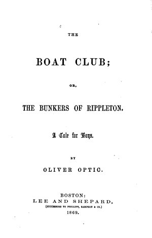 The Boat Club  Or The Bunkers of Rippleton