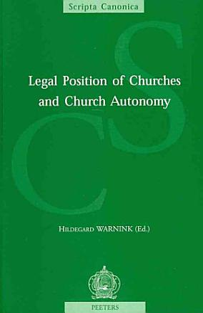 Legal Position of Churches and Church Autonomy PDF