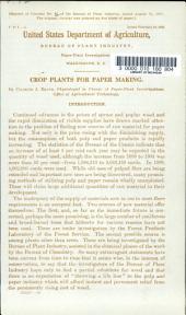 Circulars of the Bureau of Plant Industry: Volume 82