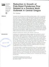 Reduction in growth of pole-sized Ponderosa pine related to a Pandora moth outbreak in central Oregon