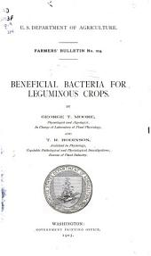 Beneficial bacteria for leguminous crops