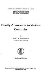 Family Allowances in Various Countries
