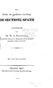 Die Bücher des Apollonius von Perga De sectione spatii