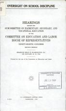 Oversight on School Discipline PDF