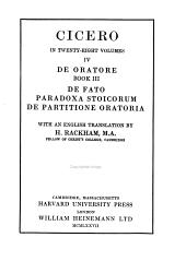 De Oratore  De oratore  book III  together with De fato  Paradoxa stoicorum  De partitione oratoria PDF