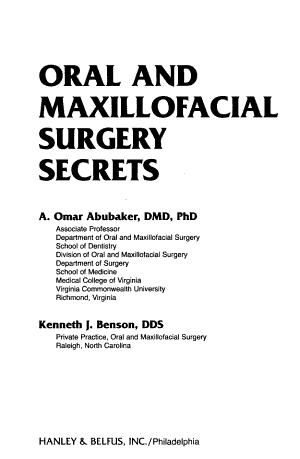Oral And Maxillofacial Surgery Secrets 2