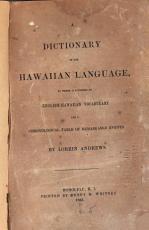 A Dictionary of the Hawaiian Language PDF