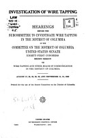 Investigation of Wire Tapping PDF