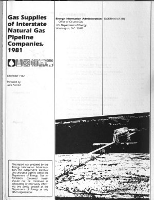 Gas Supplies of Interstate Natural Gas Pipeline Companies PDF