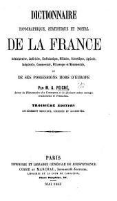 Dictionnaire topographique, statistique et postal de la France, etc