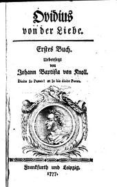 Ovidius Von der Liebe ...