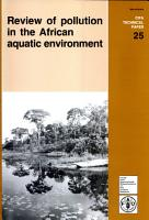 Review of Pollution in the African Aquatic Environment PDF