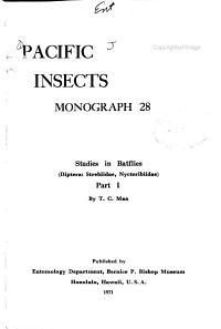 Pacific Insects Monograph