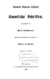Gotthold Ephraim Lessings Sämmtliche Schriften: Bände 19-20