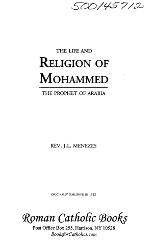 The Life and Religion of Mohammed PDF