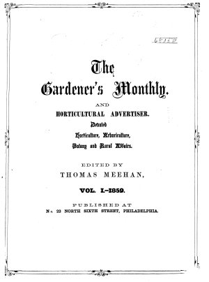 Gardener s Monthly and Horticulturist PDF