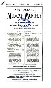 New England Medical Monthly and the Prescription: Volume 20