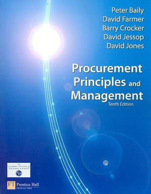 Procurement Principles And Management