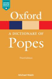 Dictionary of Popes: Edition 3