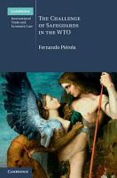 The Challenge of Safeguards in the WTO PDF