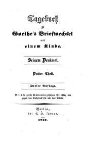 Tagebuch zu Göthe's Briefwechsel mit einem Kinde (etc.): 3