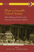 Music as Intangible Cultural Heritage PDF