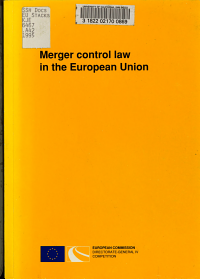 Merger Control Law in the European Union PDF