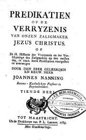 Predikatien op de zondagen: beginnende met den derden zondag na HH. Driekoningen, en eindigende op den eersten zondag voor den vasten, Volume 10