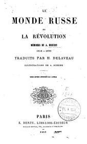 Le monde russe et la révolution: mémoires de A. Hertzen, 1812-1835