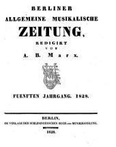 Berliner allgemeine musikalische Zeitung: Band 5