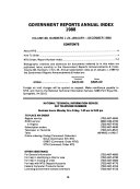 Government Reports Annual Index PDF