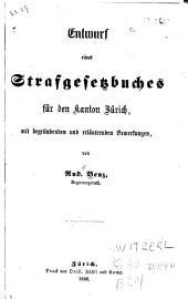 Entwurf eines strafgesetzbuches für den kanton Zürich: mit begründenden und erläuternden bemerkungen