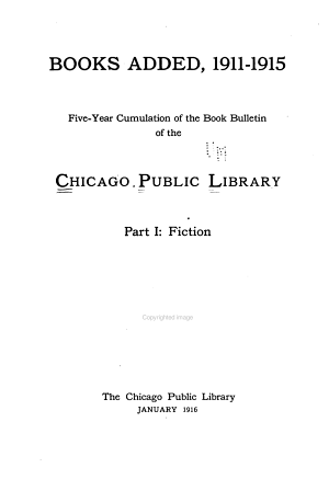 Books Added  1911 15
