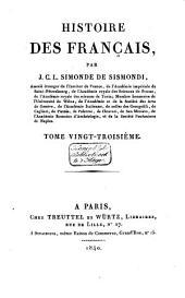 Histoire des Français: Volume23