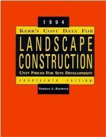 Kerr s Cost Data for Landscape Construction PDF