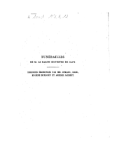 Funérailles de M. le Baron Silvestre de Sacy ... Discours [par MM. Jomard, ...]: le vendredi 23 février 1838