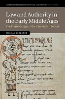 Law and Authority in the Early Middle Ages PDF