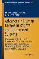 Advances in Human Factors in Robots and Unmanned Systems PDF