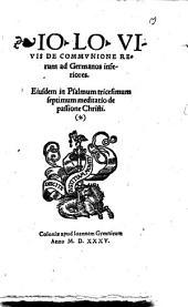 De Communione Rerum