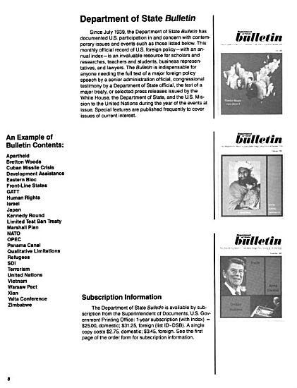 State Department Publications Sales Catalog PDF